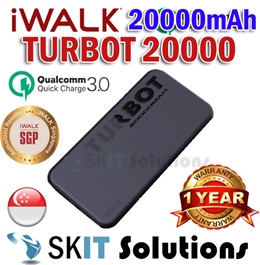 iWALK TURBOT20000 20000mAh Powerbank Power Bank Battery Charger QC3.0 PD 18W Quick Charge