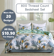 800 THREAD COUNT BEDSHEET SET/ FLAT PRICE $10.90