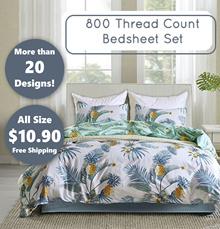 800 THREAD COUNT BEDSHEET SET/ FLAT PRICE $10.90