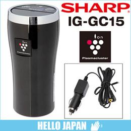 [SHARP/シャープ] 車載用プラズマクラスターイオン発生機 IG-GC15-B [クリスタルブラック] 차량용 공기 청청기