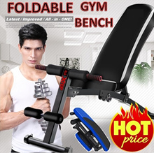 ⏰Foldable Gym bench!💥 Heavy Weight💪 WORKOUT GYM BENCH FOLDABLE SIT UP PULL UP BENCH SIX PACK CARE