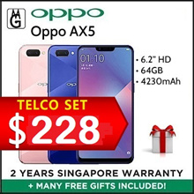 Oppo AX5 Telco 3GB RAM 64GB ROM Local 2 Year Warranty By Oppo Singapore
