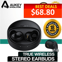 [EP-T1] AUKEY True Wireless Stereo Earbuds [PWP Aukey Product at FANTASTIC PRICE!!]