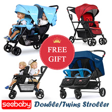 Free Gift/ Free Shipping/ Seebaby Stroller/ Double/Twin Stroller/ T12 T22