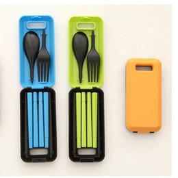 Portable Folding Travel Dinnerware Set Korean Tableware Cutlery Fork Chopsticks Set For Kids Bento L