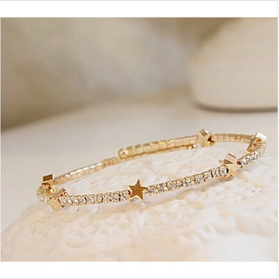 c6fdafeb5b14f Fashion jewelry bracelet female models plated 18K rose gold bracelet men  titanium alloy simple coupl