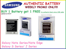 Original Samsung Battery Galaxy Note 2/3/4/Note Edge/Galaxy S3/S4/S5/J1 2016/J3 2016/J5 2016/J1 ACE