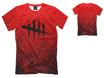New Fashion 3D Print DbD - savage Killer simulator horror video game Dead  by Daylight T-shirt for M