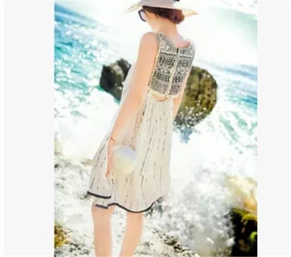 レディースワンピース ビーチワンピース 砂浜 透け感 プリント ファッション ハイセンス 着心地いい おしゃれ 夏 レディースワンピース