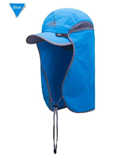 1659d9ea AONIJIE E4089 Outdoor UV Proof Hat Photography Cap Running Fishing Rod -  BLUE
