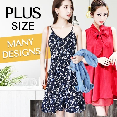 PROMO $2.9 NEW KOREAN PLUS SIZE DRESS/TOP/T-SHIRT/PANTS/BLOUSE Deals for only S$29 instead of S$0