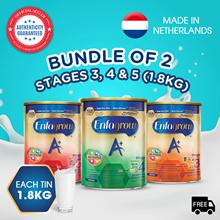[Bundle of 2] Enfagrow A+ Baby Milk Powder Stage 3/4/5 - 1.8kg