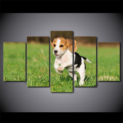 English Print Beagle Dog Puppy Art Picture