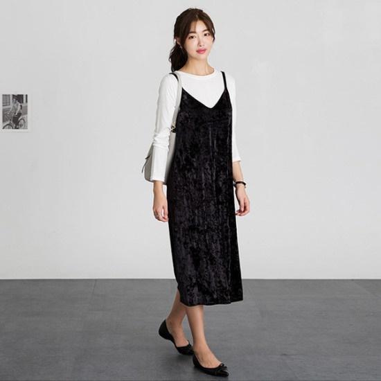 るみさんベルベットビュスチェワンピース ニット・ワンピース/ 韓国ファッション