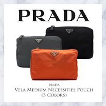 Prada Vela Medium Necessities Pouch (Available In 3 Colors)