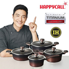 Happycall IH Titanium Pot 4 Set / All heat sources available / Cooking pots pan wok