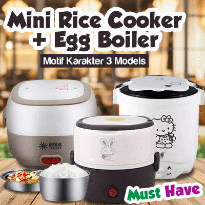 [BIG PROMO] ANEKA MACAM MINI RICE COOKER PLUS EGG BOILER DAN KARAKTER Deals for only Rp165.000 instead of Rp165.000