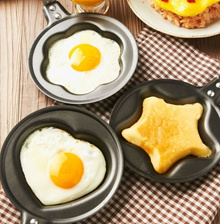 ◆Mini frying pan◆ 12cm Flower star heart shape Stainless Cute Fried egg Baking Pancakes pretty Popular children cooking