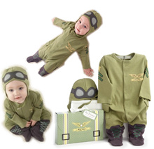 Unisex Infant Baby Toddler 0 – 24 Months Old 2T Air Force One Style Pilot Air Craft Captain One-Piece Romper Costume Outfit Set – Great for Birthday Party Parties Photoshoot Full Moon Month 100 Days
