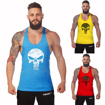 02b4749a7 The Punisher Vintage Bodybuilding Stringer Tank Top Men Gym Singlet Fitness  Sleeveless Workout Vest Cotton Sport