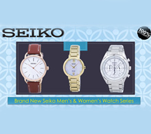 [Creation Watches] Brand New Seiko Mens And Womens Watch Series - 100% Authentic