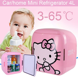 HELLO KITTY ★ Mini Car Portable Fridge Refrigerator 4L Car Use/Home Use/Refrigeration