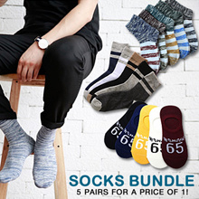 [ORTE] Mega Sale★Man Socks Bundle★Cheapest★Best Quality★Korean Japanese Design★ Fast Delivery