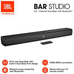 [MAKE $162] JBL Bar Studio 2.0 Channel Soundbar with Bluetooth