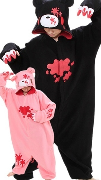 New Kigurumi Pajamas Anime bear Cosplay Costume Unisex Adult Onesie Dress & Qoo10 - New Kigurumi Pajamas Anime bear Cosplay Costume Unisex Adult ...