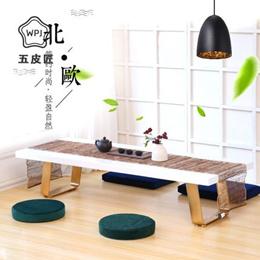 实木榻榻米茶几地台炕桌日式禅意茶桌椅组合阳台飘窗桌欧式小矮桌