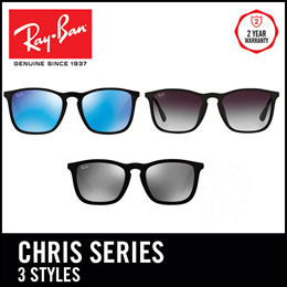 cfe7615f58 Ray-Ban Sunglasses Chris RB4187F - Size 54 - Popular - 3 Frames Available.