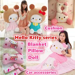 Hello kitty tsum tsum kids toys/pillow/cushion/blanket/Travel U neck/car accessories/Christmas gifts