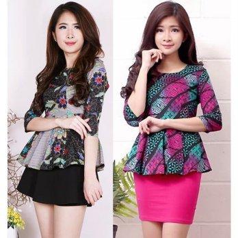 Qoo10 Atasan Batik Modern Pakaian