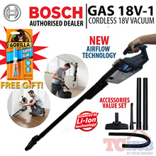 Bosch GAS 18 V-1 Cordless Vacuum Cleaner (Free 2.0 AH battery)