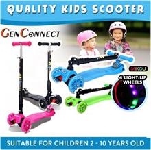 ⏱【QUALITY KIDS SCOOTER】/4 wheels Kids Scooter/Kick Scooter/Safety Gear Guard Set/Helmet