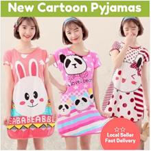 【Local Seller】New Cartoon Pajamas Comfortable Sleepwear Lingerie