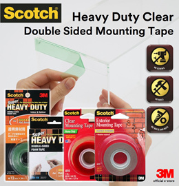 [Official E-Store] Scotch® VHB™ Super Heavy Duty Clear Mounting Tape - KTD12 / STD19