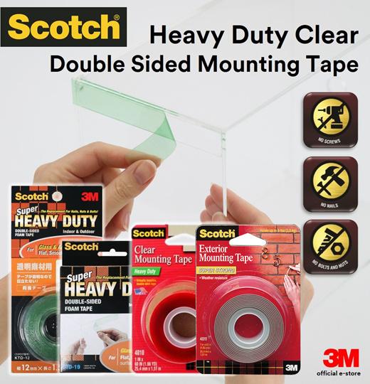 "3M 4010 Scotch™ Heavy Duty Clear Mounting Tape 1/"" x 60/"""