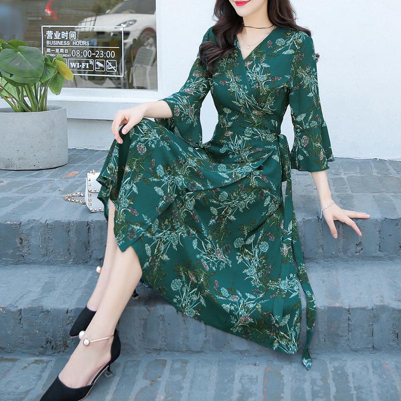3色 エレガンス ワンピース♪ドレス 花柄 韓国ファッション パーティードレス 膝丈 結婚式 ドレス お呼ばれ 二次会 同窓会 旅行 デート カジュアル 通勤 普段着用