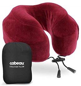 [Home] Cabeau Memory Foam Neck Pillow, Crimson