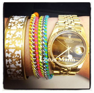The way the Tasman watches accessories No.1 lap steel chain Leather Rope Bracelet color models