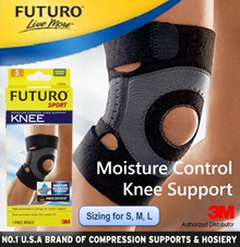 3M FUTURO™ Sport Moisture Control Knee Support / Knee Brace / Knee Guard / Joint Support / Open Patella / Loose Knee Cap / Injury Prevention