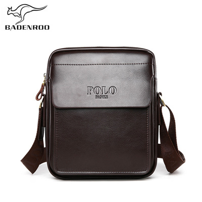 sale Badenroo Genuine Leather Polo Men Shoulder bags Classical Messenger Bag  Cross Body Bag Fashion 53974607e1df1