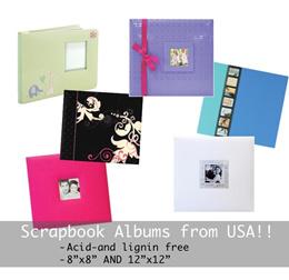 Scrapbook Albums Acid and Lignin Free - Various Designs