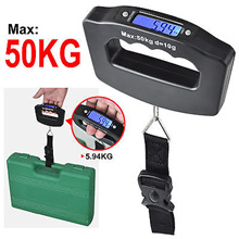 Portable Handheld Electronic Luggage Scale Travel With Free Battery