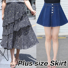 ♥buy 2 free shipping♥PLUS SIZE fashion dress Skirt / Denim skirt  / high quality