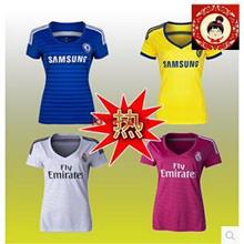Real Madrid Chelsea jersey 14-15 female models Women Slim female version of uniforms Soccer Jersey
