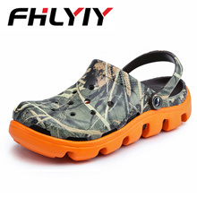 authentic Mens Croc Shoes Sandals Slipper New Summer Lightweight Flip Flop Hollow-out Male Water Bea