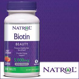 ★최저가★미국 나트롤 비오틴 Natrol Biotin 5000mcg 250정