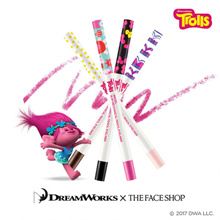 The Faceshop - Trolls Inkgel Slim Mechanical Pencil Eyeliner Cup Cake Pink